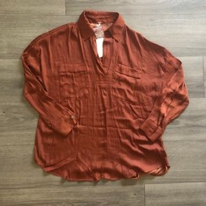 Free People Starry Dreams Brown Pullover